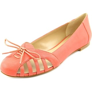 Sole Society Meredithe Women Round Toe Leather Pink Flats