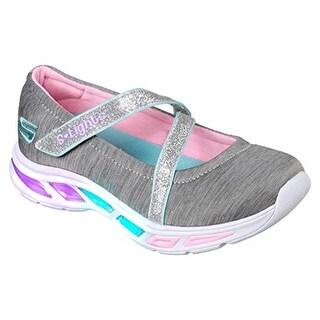 Skechers Kids Girls' Litebeams-Spin N'sparkle Sneaker, Gray/Multi, 1.5 Medium Us Little Kid