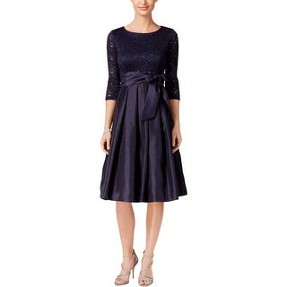 Jessica Howard Womens Party Dress Sequined Lace