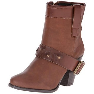 Dolce by Mojo Moxy Womens Cowboy, Western Boots Faux Leather Ankle