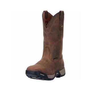 Dan Post Work Boots Mens Hudson Waterproof Broad Square Brown DP69852