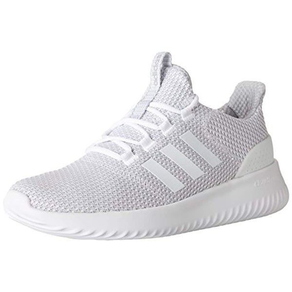 Shop Adidas Men s Cloudfoam Ultimate Running Shoe White Grey 451473444