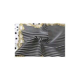 Women Fashionable White Dots Print Satin 100% Silk Square Scarf