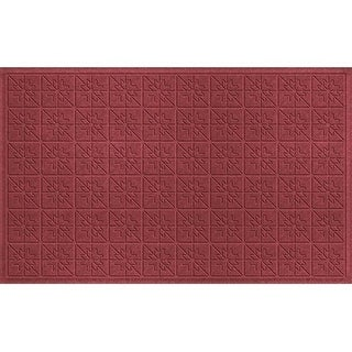 843550035 Water Guard Star Quilt Mat in Red/Black - 3 ft. x 5 ft.