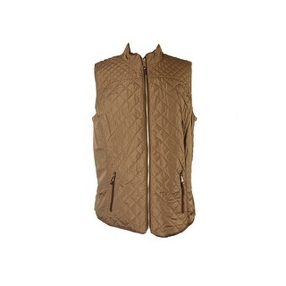 Charter Club Salty Nut Quilted Puffer Vest L