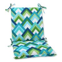 """36.5"""" Resort Peacock Outdoor Patio Chair Cushion with Ties - Green"""