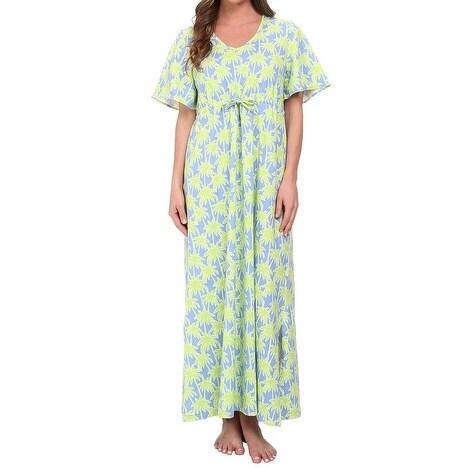 BedHead NEW Green Blue Women\'s Size XS Printed Gowns Sleepwear ...