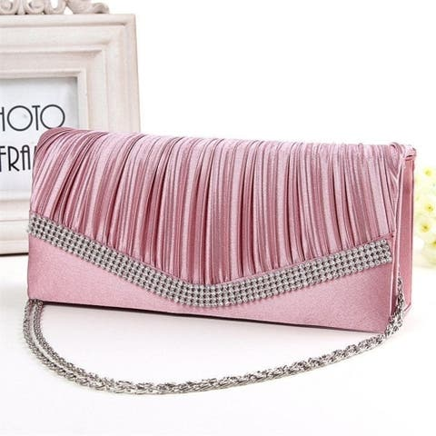 Elegant Diamond Women Clutch Evening Bag - 22cm by 10cm by 5cm