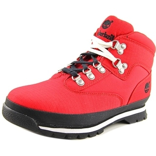 Timberland Euro Hiker Youth Round Toe Canvas Red Hiking Boot