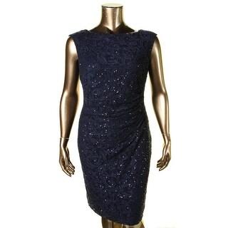 Lauren Ralph Lauren Womens Plus Special Occasion Dress Lace Sequined - 14W