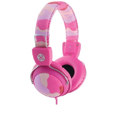 Moki Camo In-line Mic Headphones Pink