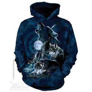 The Mountain Cotton Bark At The Moon Adult Hoodie