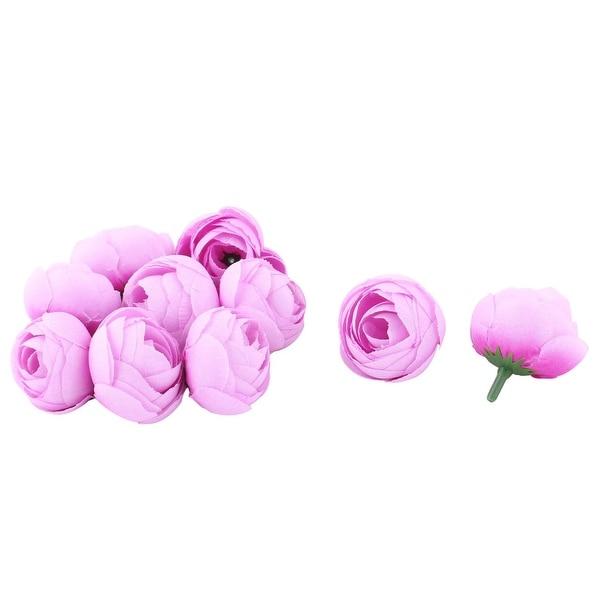 Bride Wedding Fabric Artificial Flower Buds Heads DIY Garland Decor Light Purple 10pcs