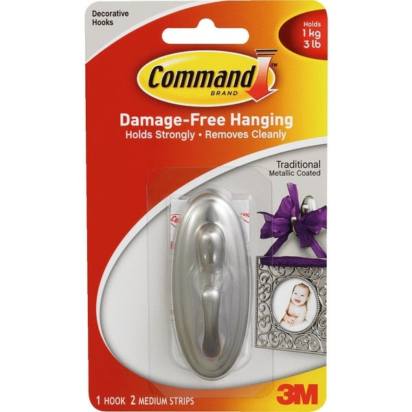 3M Command Med Nickel Hook