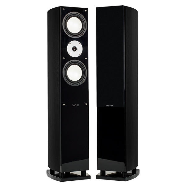 Fluance XL7FBK High Performance Home Theater Three-way Floorstanding Tower Loudspeakers (Black Ash)