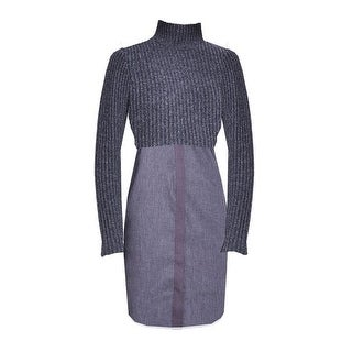 Elie Tahari Raleigh Charcaol Sweater Dress