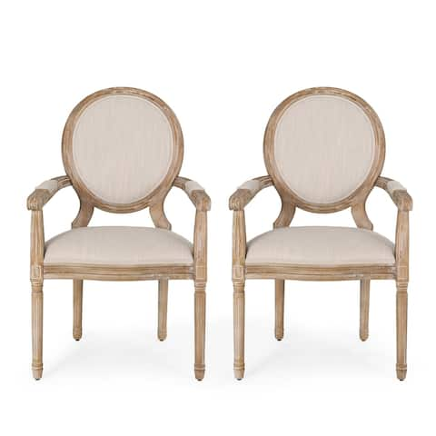 """Judith French Country Wood Upholstered Dining Chair by Christopher Knight Home - 24.50"""" L x 26.00"""" W x 40.50"""" H"""