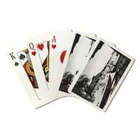 HI O'ahu Island; Diamond Head - Vintage Photograph (Poker Playing Cards Deck)