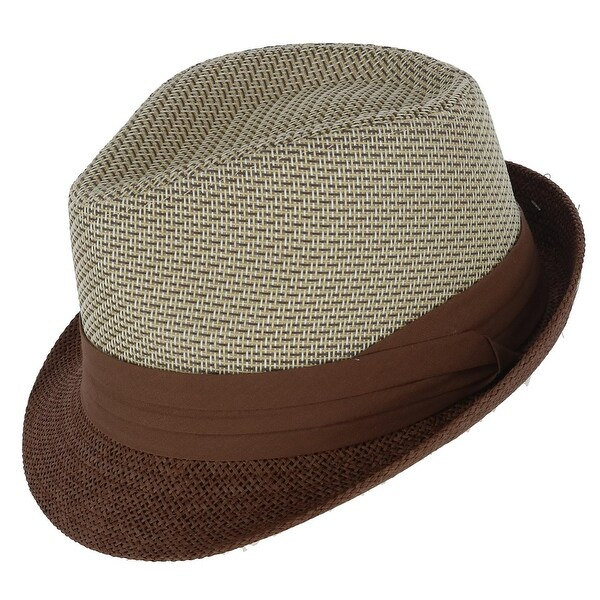 df9298bc Shop Kenny K Men's Two Tone Fedora with Pleated Band - Free Shipping On  Orders Over $45 - Overstock - 28034926