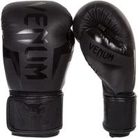 Venum Elite Hook and Loop Boxing Gloves - Matte Black