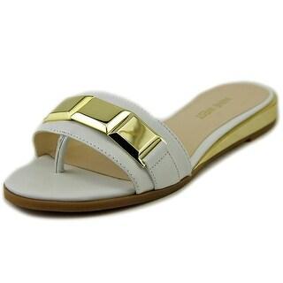 Nine West Xtina Open Toe Leather Thong Sandal