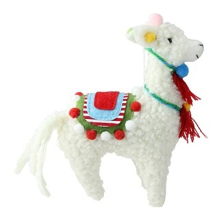 7 Bohemian Multicolor Plush Llama Christmas Ornament