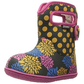 Bogs Girls Baby PomPon Dot Toddler Printed Snow Boots