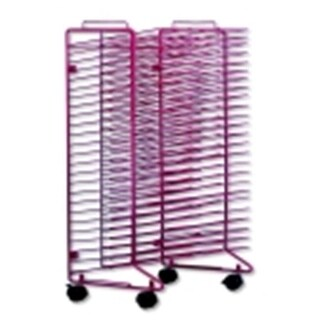 Sax Stack-A- Rack Drying Rack - 30 H x 21 W x 17 L in. - Red