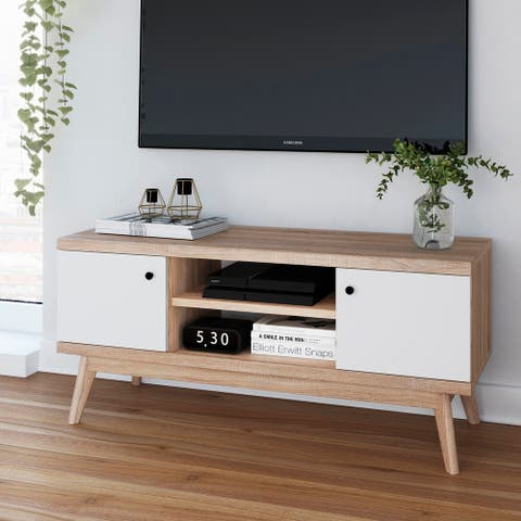 Living Skog Mid-century MDF TV Stand for Tv's up to 50 inches Beige