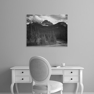 Easy Art Prints Ansel Adams's 'Mountains in Yellowstone' Premium Canvas Art