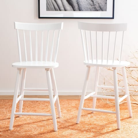 """Safavieh Providence 24-inch Spindle Farmhouse Counter Stools (Set of 2) - 19.5"""" x 20.7"""" x 44.1"""""""