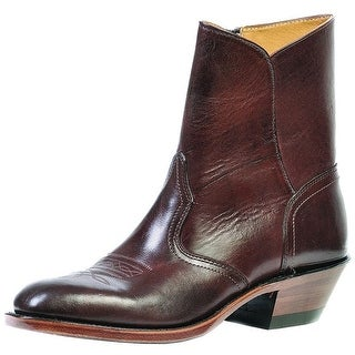 Shop Boulet Western Boots Mens Cowboy Leather Zip Ankle