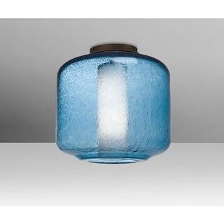 "Besa Lighting NILES10BOC Niles Single Light 9-1/2"" Wide Semi Flush Ceiling Fixtu"