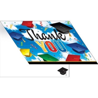 """Pack of 75 Blue and White Graduation Celebration Thank You Cards 9.25"""""""