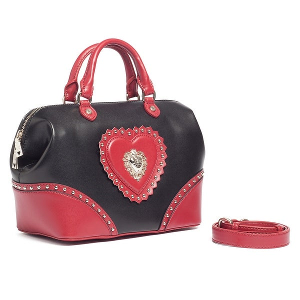 Moschino JC4152 100B Black/Red Satchel/Shoulder Bag - 12-10-6