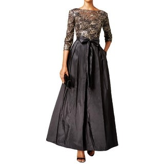 Alex Evenings Womens Formal Dress Lace Sequin