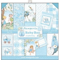 "Baby Boy - Stamperia Double-Sided Paper Pad 12""X12"" 10/Pkg"