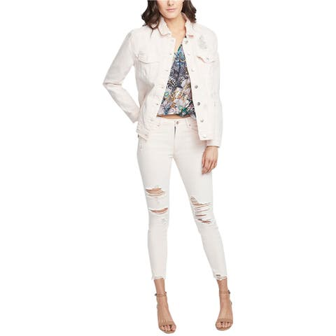 Rachel Roy Womens Destructed Jacket