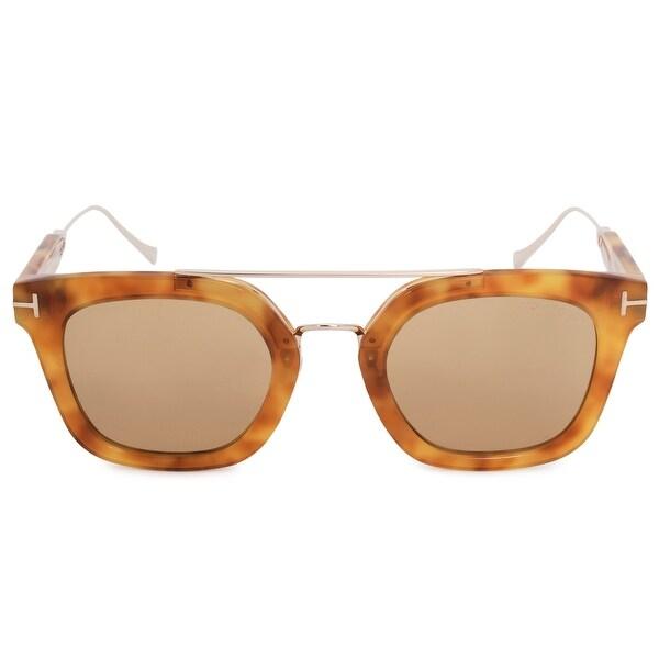 d76398ea4080d Shop Tom Ford Alex-02 Wayfarer Sunglasses FT0541 53E 51 - Free ...
