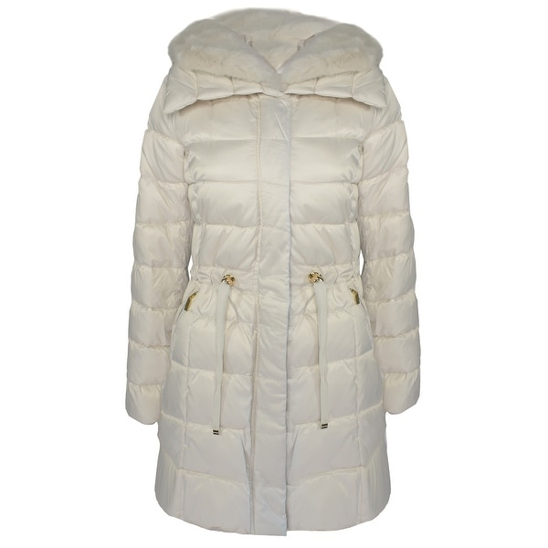 Laundry by Shelli Segal Women's Quilted Faux Fur Puffer Jacket, New Pearl. Opens flyout.