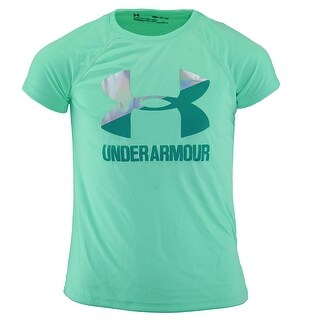 Under Armour Girl's Two Tone Big Logo S/S T-Shirt