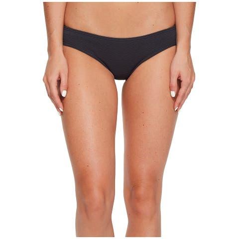 Billabong Womens Swimwear Black Medium M Textured Cheeky Bikini Bottom