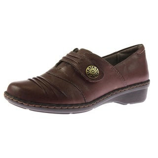 Naturalizer Womens Response Leather Pleated Loafers - 10 narrow (aa,n)
