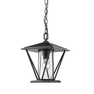 """Millennium Lighting 2524 Single Light 9"""" Wide Outdoor Mini Pendant with Glass Shade
