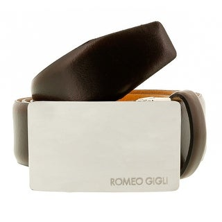 Romeo Gigli C838/35S T.MORO Dark Brown Leather Adjustable Mens Belt
