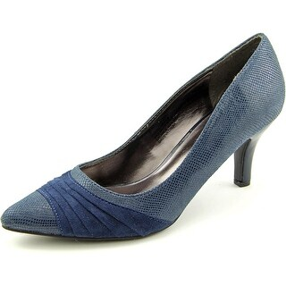 Karen Scott Gladdys Women Pointed Toe Synthetic Blue Heels