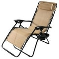 Sunnydaze Oversized Zero Gravity Lounge Chair with Pillow and Cup Holder - Thumbnail 97