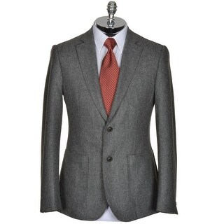 Hardy Amies London Mens Pure Wool Gray Flannel Sportcoat 42R Blazer Jacket