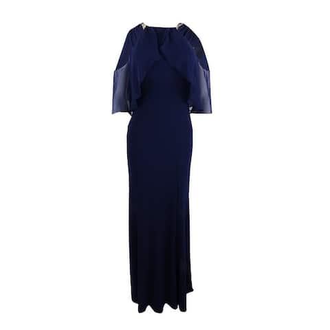 Xscape Women's Cold-Shoulder Halter Gown