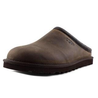 Ugg Australia Classic Men Round Toe Leather Brown Clogs